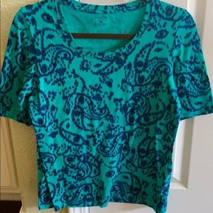 Beautiful Green and Blue Patterned Shirt